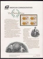 #3504 34c The Nobel Prize USPS #623 Commemorative Stamp Panel