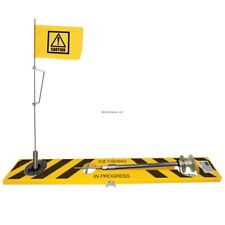 "*New Limited Winter 2019 Beaver Dam Tip-Up 23""x3"" Wood Caution Tape Bdtp-By"