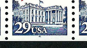 USA, SCOTT # 2609, STRIP OF 5 PNC # 4 WITH BOTTOM PART OF NUMBER 4 MISSING ERROR