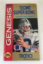 Tecmo Super Bowl - Instruction Manual Booklet Only - Sega Genesis