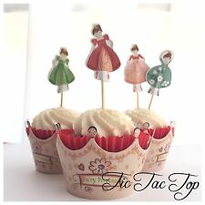 12x Fairy Princess Cupcake Big Topper + Wrapper. Party Supplies Lolly Loot Bags