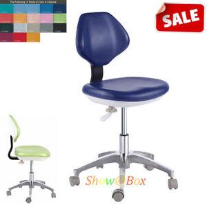 PU Leather Adjustable Dental Dentist Chair Unit Doctor Hydraulic Rolling Stools