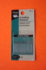 Dritz Quilting Betweens Hand Sewing Needles - Size 10 - 20 pack