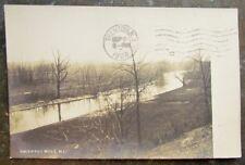 BLACKWELLS MILLS N.J. RPPC ANTIQUE 1908 REAL PHOTO POSTCARD