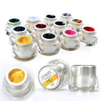 AM_ 12 Colors 3D Nail Art Paint Draw Painting Acrylic Color UV Gel Tip DIY Kit N
