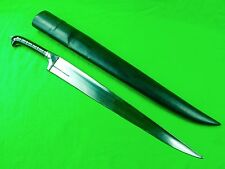Vintage Afghanistan Afghan Large Dagger Fighting Knife Short Sword w/ Scabbard