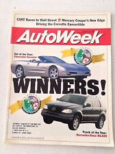 Autoweek Magazine Chevrolet Covette Mercedes Benz January 12, 1998 020117RH