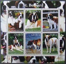 Turkmenistan-Dogs-St.Bernard,1 M/Sh.2000.MNH**TU PLR 06