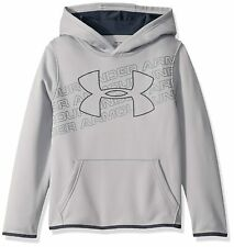 Under Armour Boys Pullover Gray Hoodie Size Large