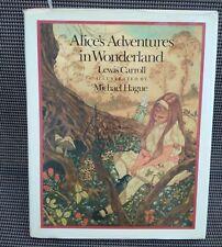 Walt Disney's ALICE IN WONDERLAND Michael Hague Book + Dust Jacket HC
