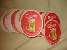 70 Carlsberg draught larger beer mats
