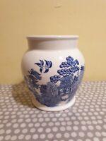 Vintage Blue Willow Pattern Storage/Utensil Jar