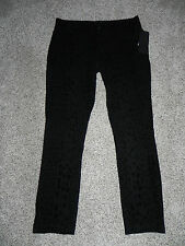 Seven7 Pants Size 14 Black Printed Inseam 30 Style 7M533MM Womens NWT $74