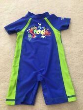 Infant Boys size 12M Speedo one piece swim wear swimsuit UV50+ Sun protection