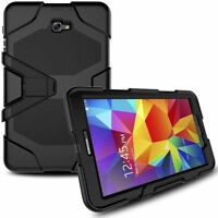 "Heavy Duty Shock Proof case Cover For Samsung Galaxy Tab A 10.1"" T580 Black New"