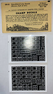 CHAMP O DECAL - CONSOLIDATED LUBE PLATES (WESTERN HALF OF U.S.) ITEM #OD-32