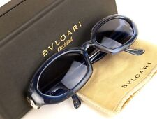 Auth BVLGARI Aqua Blue Oval Sunglasses Eyewear 813 914 P1523 ITALY W/ Case Good