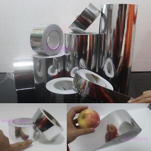 DIY Adhesive Vehicle Glossy Silver Mirror Chrome Vinyl Tape Wrap Sticker Film CB