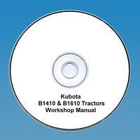 Kubota B1410 & B1610 Tractor  Workshop Manual