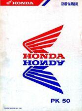Honda PK 50 1990 Shop Manual