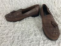 Giorgio Brutini Bartell Brown Leather Tassel Weave Loafers Men's Size 9 M
