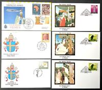 Vatican City 1993 Papal Travels Golden Series Estonia Lithuania Latvia Covers