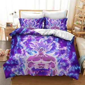 Anime Dargon Ball Z 3Pcs Bedding Set Duvet Cover Pillowcases Comforter Cover