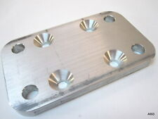 """Aluminum Base Plate Assembly for Mounting Wood Top Rails, 3 x 5 x 3/8"""""""