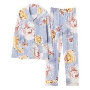 M-3XL Petites Women's 100% Cotton Long Sleeves Pyjama Set Sleepwear Loungewear