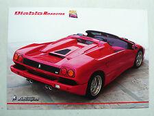 Prospetto LAMBORGHINI DIABLO Roadster, 1995, 2 pagine, lucido, inglese