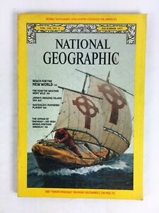 December 1977 NationalGeographic Magazine Reach for the New World Voyage Brendan