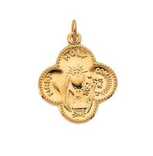 First Communion Medal Pendant 17.75mm 14K Yellow Gold R41356 2.8grams Rembrandt