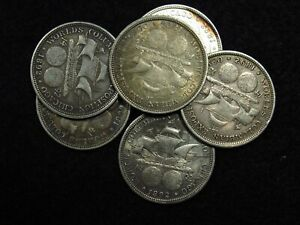 1892 Colombian Expo Commemorative Half Dollar XF+ 90% SILVER