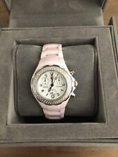 Michele Tahitian Diamond Pink Ceramic Watch