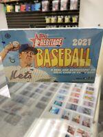 2021 Topps Heritage Hobby Baseball Factory Sealed Unopened Box ~ 24 Packs