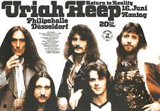 Tour Concert Poster Konzertplakat : Uriah Heep 1975  Like new  NEUWERTIG