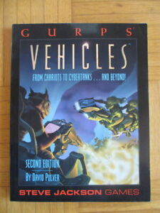 GURPS – Vehicles Second Edition – English – roleplaying game Steve Jackson Rolle