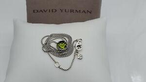 David Yurman Sterling Silver Chatelaine Pendant Necklace with Peridot