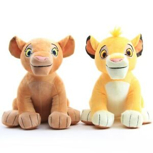 2PCS The Lion King Nala Simba Plush Doll Stuffed Figure Kids Birthday Gift 10''