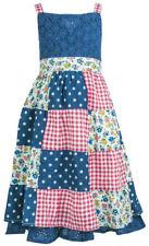 Robes multicolores sans manches pour fille de 6 à 7 ans