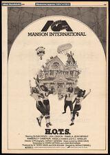 H.O.T.S.__Original 1979 Trade print AD / poster__SUSAN KIGER__SANDY JOHNSON_Hots