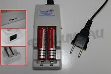 2 PILES ACCUS RECHARGEABLE 18650 3.7V 4200mAh + CHARGEUR TR-001 TRUSTFIRE
