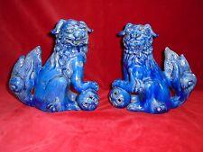 Paire de chiens de Fô, chiens de Fô en céramique, céramique Chinoise, Chine