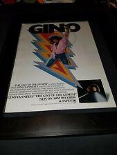 Gino Vannelli The Gist Of The Gemini Rare Original Promo Poster Ad Framed!