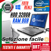 PC NOTEBOOK HP ELITEBOOK 2760P 12,1 CPU i7 8GB RAM HDD 320GB TOUCH SCREEN TABLET