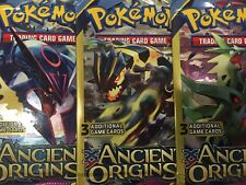 5  POKEMON XY  ANCIENT ORIGINS  3 Card Booster Packs