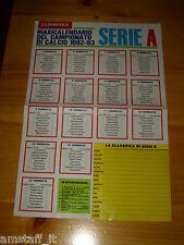 # POSTER CALENDARIO CALCIO 1982/83 82/83  CAMPIONATO SERIE A / B