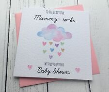Beautiful Watercolour Mummy To Be Baby Shower Card