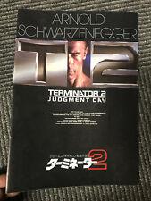 TERMINATOR 2 Japan program/pressbook Arnold Schwarzenegger CLEARANCE PRICE rare!