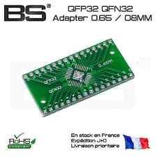 Adapter adaptateur HTQFP QFN32 DIP32 QFN32 0.65mm 0.8mm QFP32 PQFP LQFP